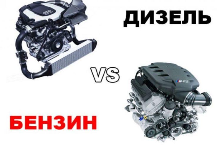 Тип двигателя: бензиновый или дизельный?