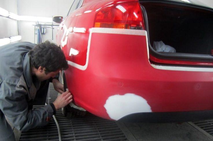 Технологический процесс покраски авто