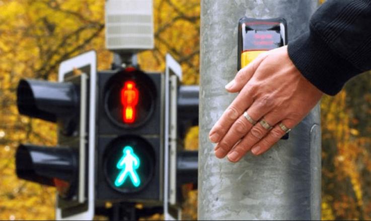 Регулирование движения через пешеходный переход