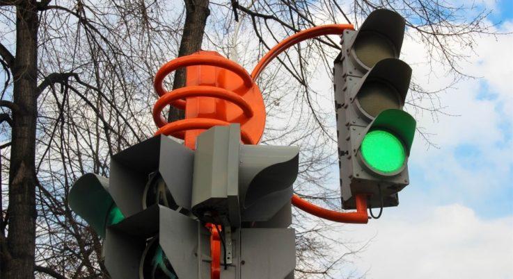 Различные сигналы светофора