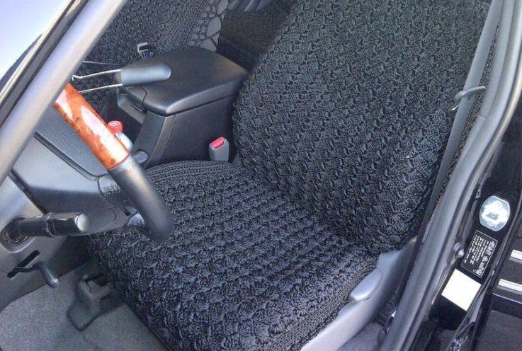 Вязаные накидки на авто