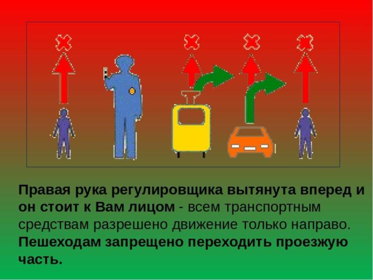Сигналы регулировщика на дороге