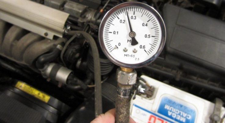 Проверить давление в топливной рампе