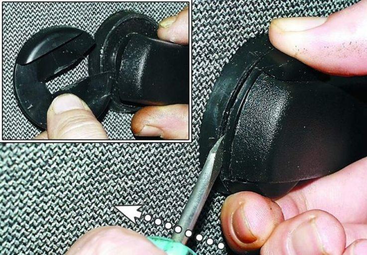 Как снять ручку стеклоподъемника ВАЗ 2107?