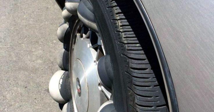 Вздутие резины на шине