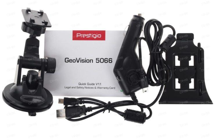 Комплектация Prestigio GeoVision 5059 Progorod