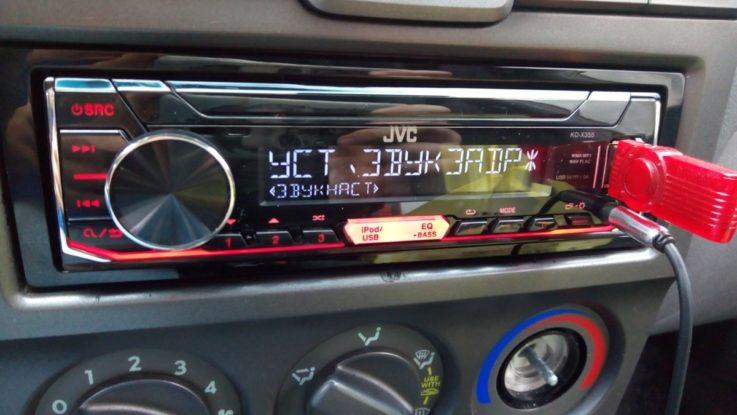 Панель управления JVC KD-X352BT