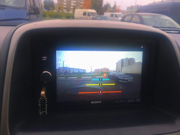 Изображение с камеры SONY XAV-W600