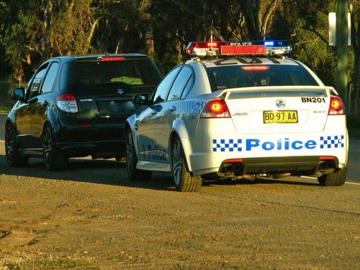 Остановка авто полицией