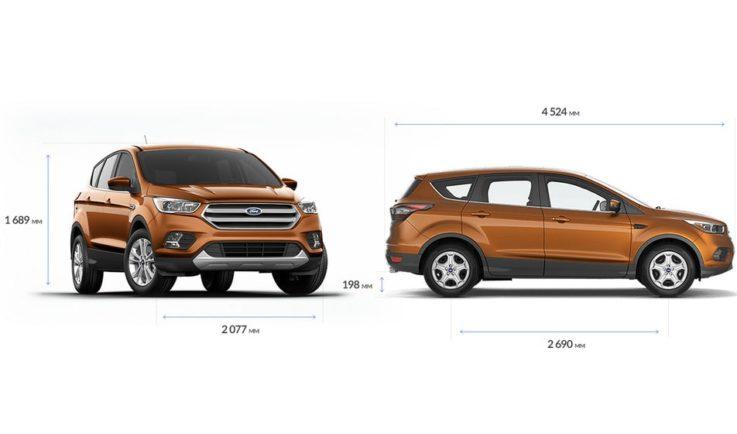 Габариты Ford Kuga